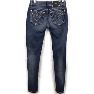 Miss Me Signature Super Skinny Bling Pocket Jeans